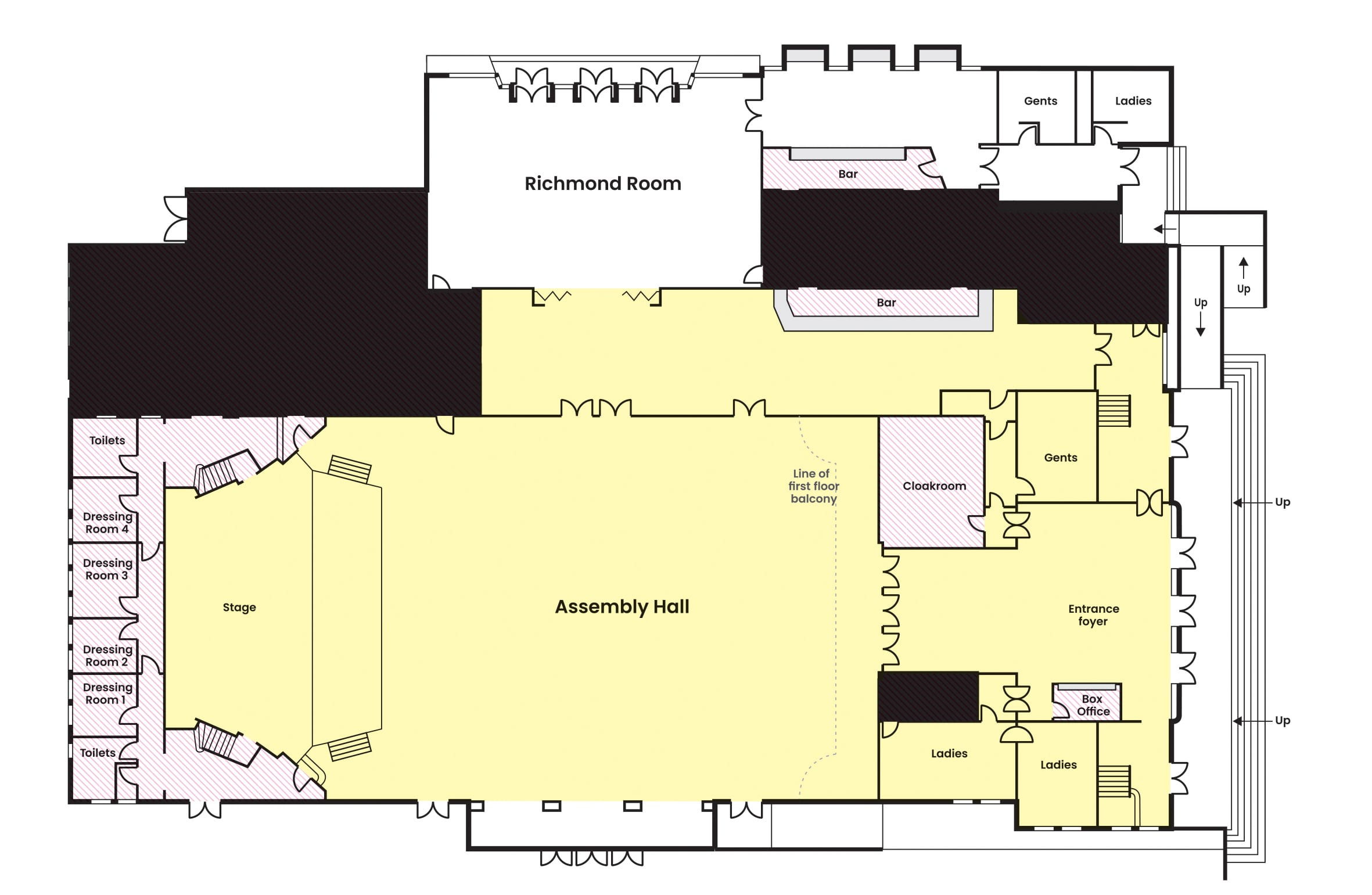 Assembly Hall - Floor Plans