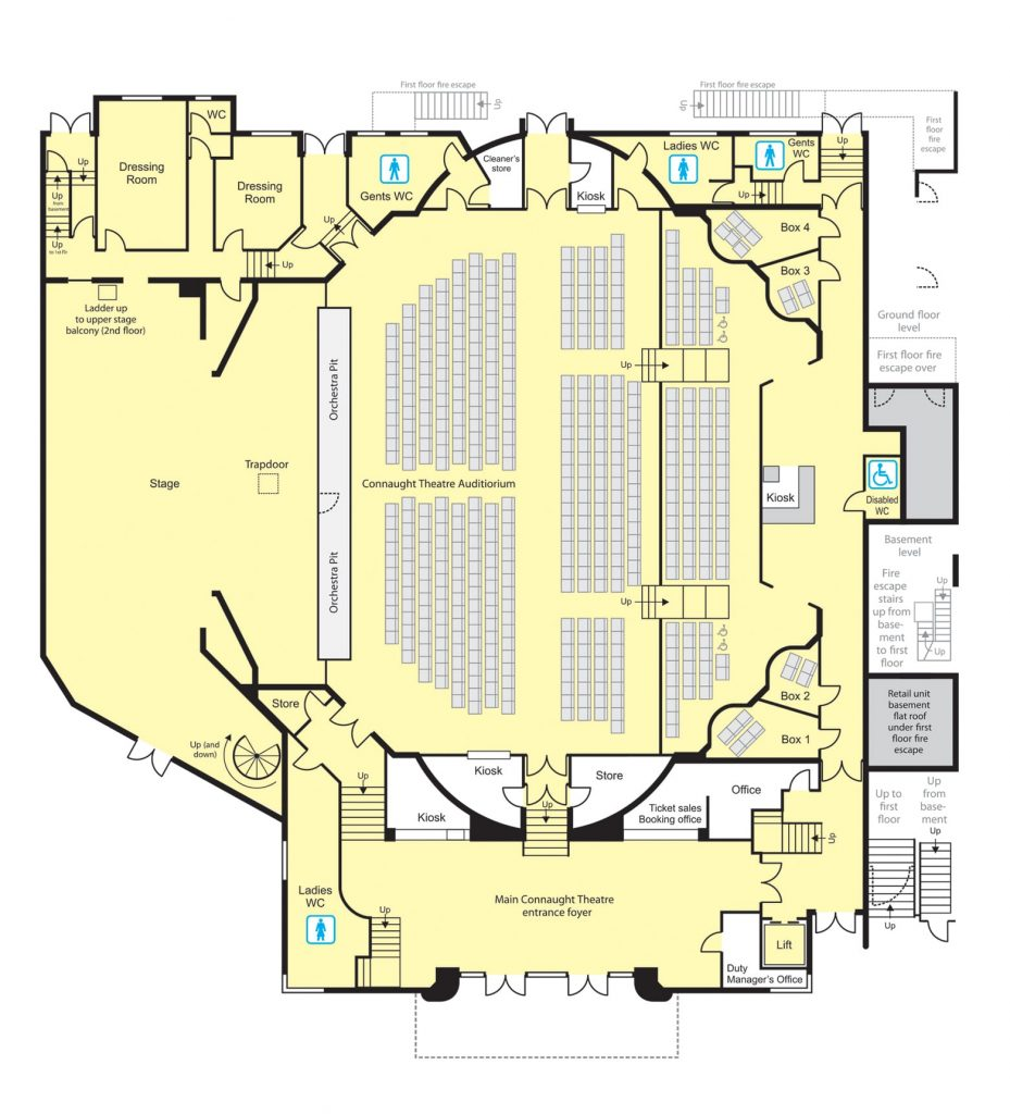 Connaught Theatre - Floor Plans