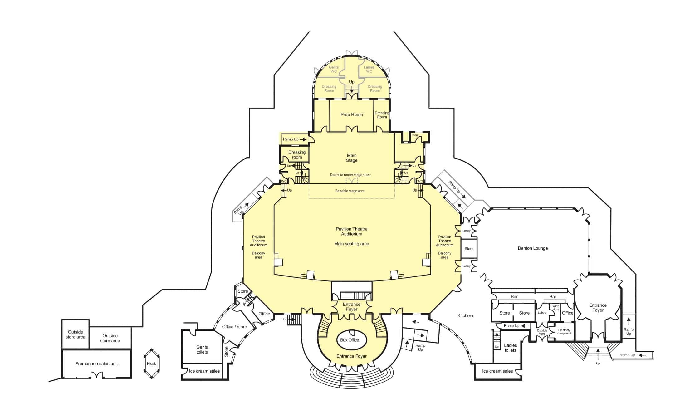 Pavilion Theatre - Floor Plan