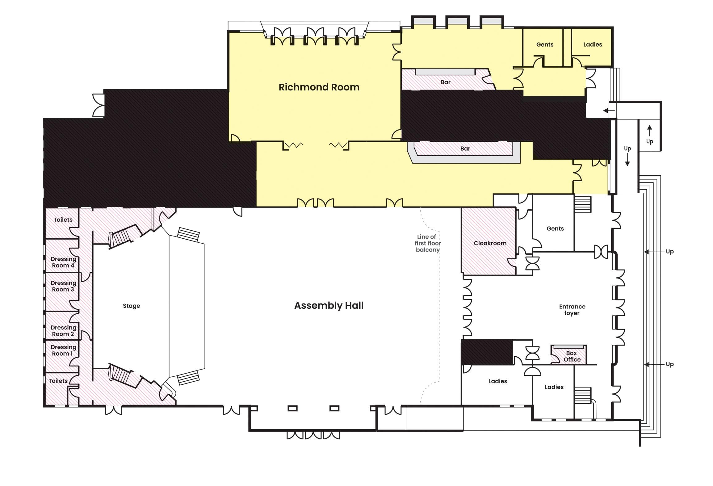 Assembly Hall - Richmond Room - Floor Plan