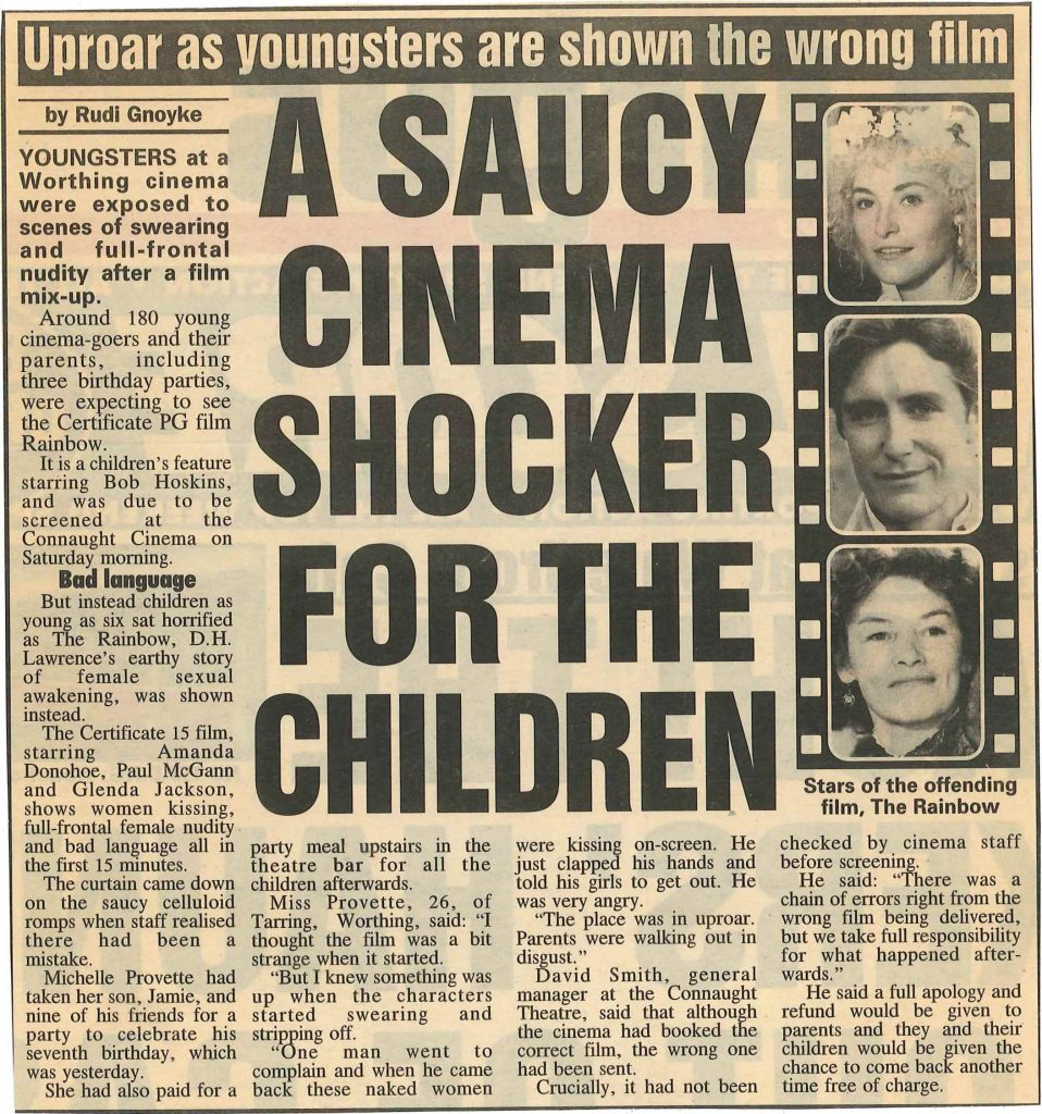 The Rainbow Controversy -Argus 16th March 1998