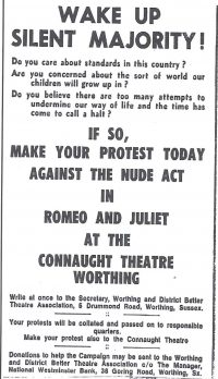 Advert from local paper April 1970